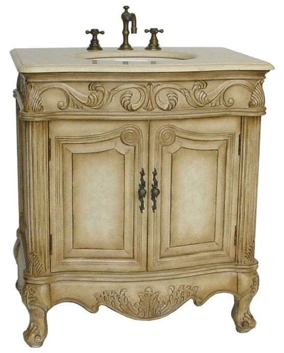 32 inch wide sink vanity country french style vanity available in or cream marble counter top