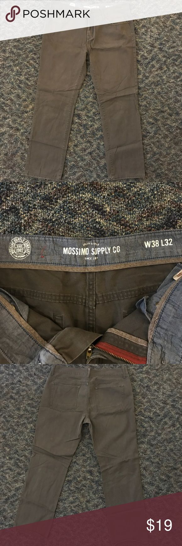 Mossimo Supply Co. Great quality pair of grey pants. No flaws, zippers work perfectly, no holes in pockets. Perfect to be worn for anything.  MOSSIMO SUPPLY CO., VANS, ADIDAS, NIKE, VINTAGE VINEYARDS, STARTER, CONVERSE, AIR JORDAN, J. CREW, TOMMY HILFIGER, THE NORTH FACE, DITCH PLAINS, CHAMPION, LACOSTE, BLAC LABEL, RALPH LAUREN, REEBOK, OLD NAVY, AMERICAN APPAREL, NAUTICA, ABERCROMBIE & FITCH, OBEY, FOREVER 21, SKULLCANDY, SUPREME, PACSUN, POLO, LEVI'S Mossimo Supply Co. Pants Dress