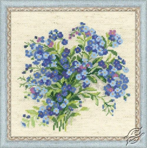 Forget Me Nots - Cross Stitch Craft Kits by RIOLIS - 1496