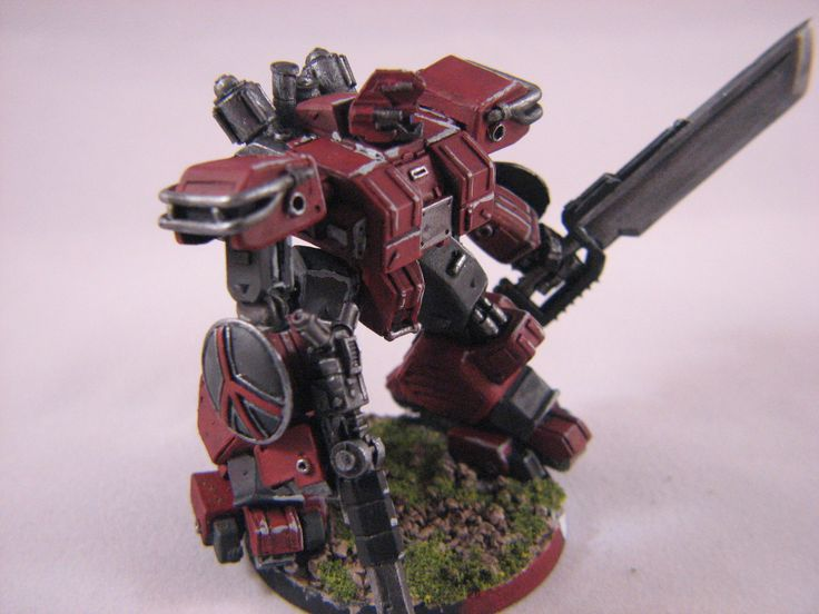 Heavy Gear Blitz - Dream Pod 9 - PRDF Cataphract Gearstrider painted by Chad Chapman.