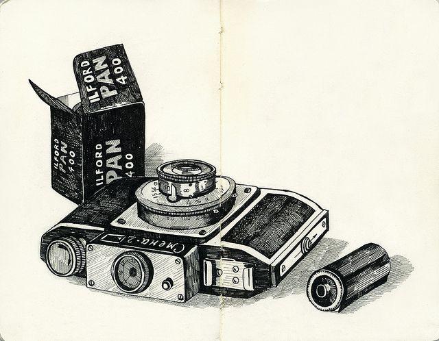 : Old Camera, Illustrations Art, Design Illustrations, Art Illustrations, Asya Alexandrova, Photo Illustrations, Camera Photo, Camera Illustrations, Life Illustration