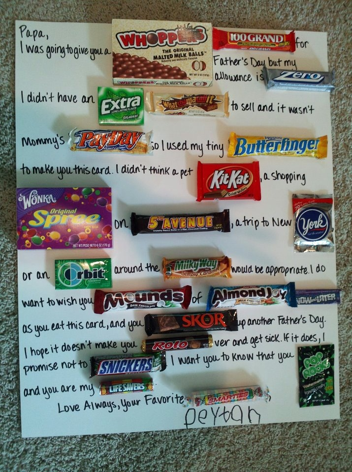 father u0026 39 s day candy card