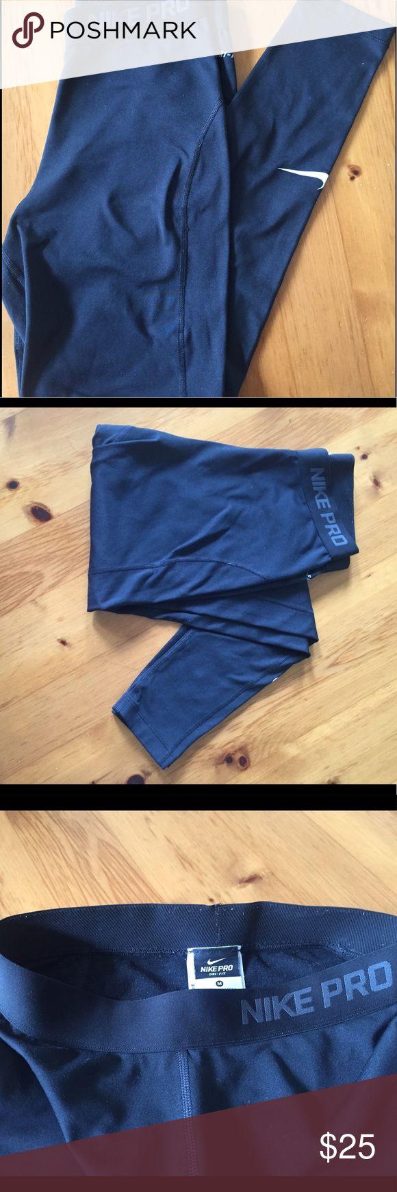 Nine Pro Leggins Nike Pro Leggins; full length pants, tight fitted, no marks or signs of wear Nike Pants Leggings