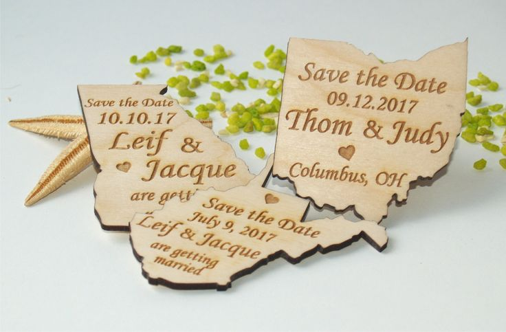 Save the date invitations, Save the date magnets, Save the date magnet, Save the date wedding , Save the date magnet rustic, States magnets, save the date cards  Made from birch wood. One side is engraved, the other side is empty or with magnet.  Dimensions: 2.36in x2.36in (6cm x 6cm) It depends on the country or state.  In the note section please write me your state or country.  Ordering 110 dollars or more will be shipped with DHL company. Shipping time 3-5 days.  ***HOW TO ORDER*** To…
