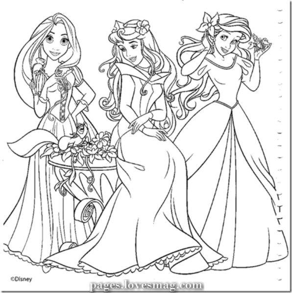 Disney Princesses To Paint Or Print Colour Pages Princess Coloring Pages Disney Princess Coloring Pages Princess Coloring