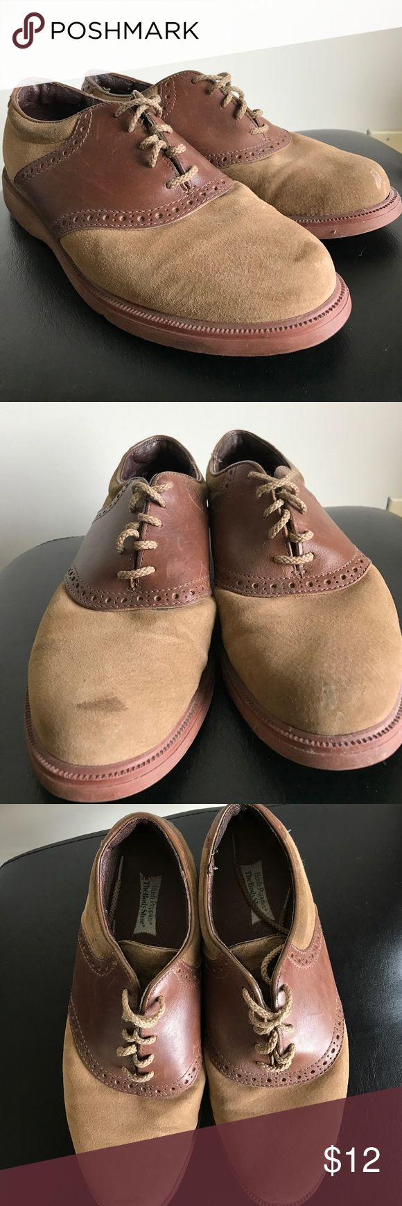 Vintage Hush Puppies Oxford Shoes Well worn, wear shown in pictures. Fun vintage shoes! Hush Puppies Shoes Oxfords & Derbys