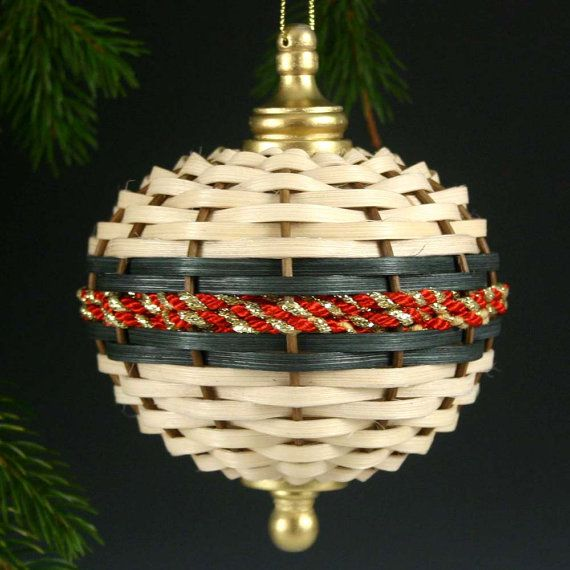 Basket Weave Christmas Ornament-Picture Only  www.pamcrowder.com