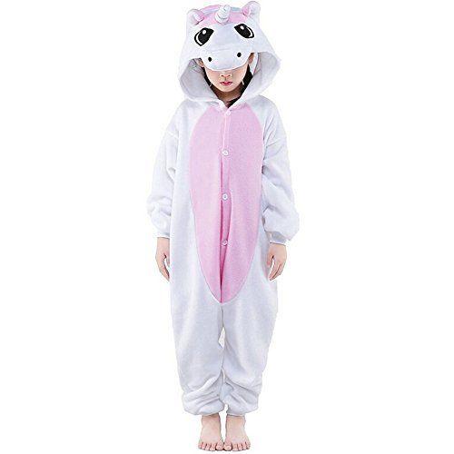 LATH.PIN Unisex Ensemble de Pyjama Combinaison de Nuit Vêtement pour Enfants Bébé Fille Garçon Cartoon Cosplay Costumes Onesie Animaux…