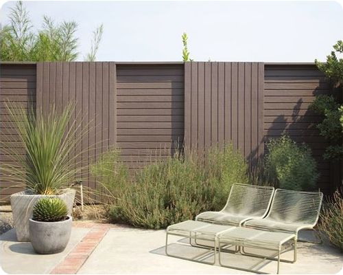 Pool Fence Design Ideas - T-111 plywood fencing