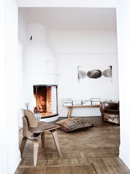 Living room - Fireplace - Home of  Stefan Söderberg, creative director at Hope - Via Love Nordic Design