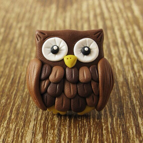 Fimo owl from etsy                                                                                                                                                                                 Plus