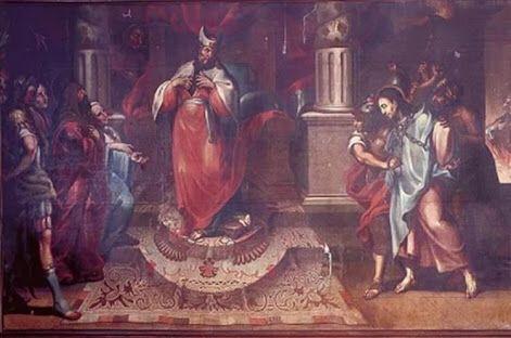 Cristo ante Caifás  Finales de 1600 Autor: Tomás de Merlo