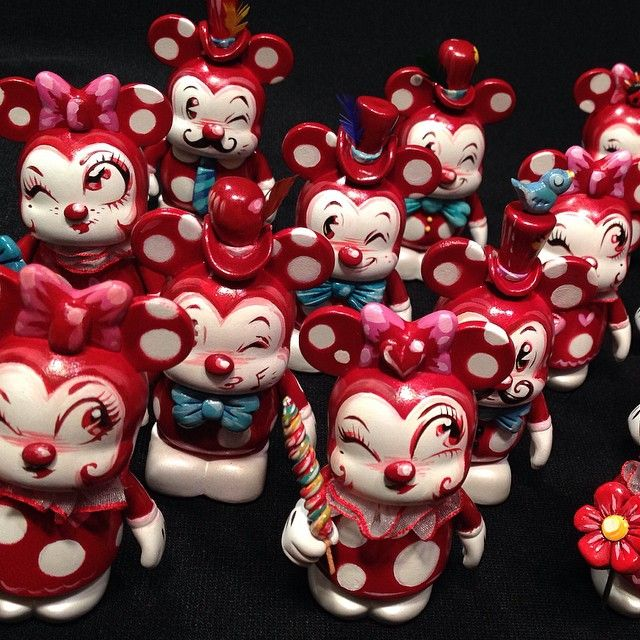 Miss Mindy's Valentine's Day Custom Vinylmations Available At Disneyland Today
