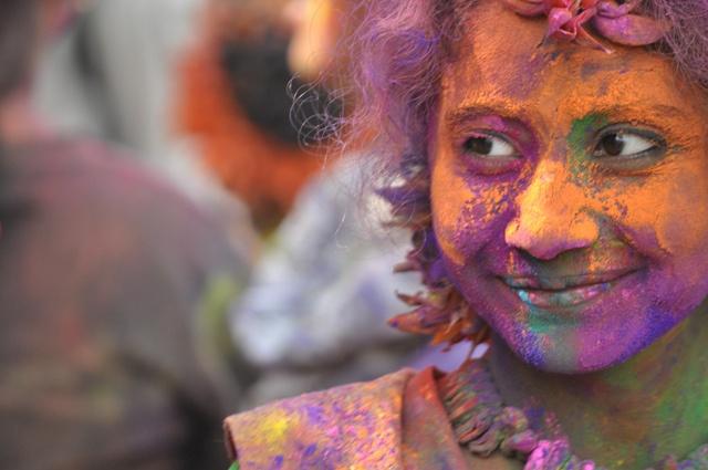 Festival of Colours and Smiles by Akash Mondal, via Flickr: Colour, Festival, Smile, Photo
