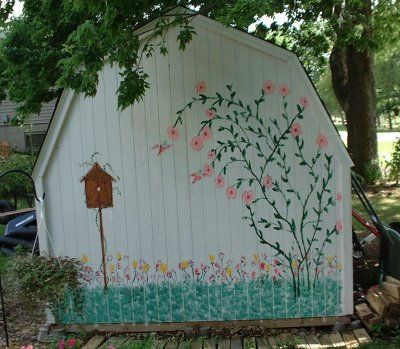 Cute Painted Sheds | Do you have a cute gardening shed? - Cottage Garden Forum - GardenWeb