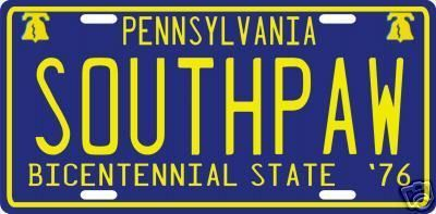 "Rocky Balboa Movie 1977 ""Southpaw"" PA License Plate 