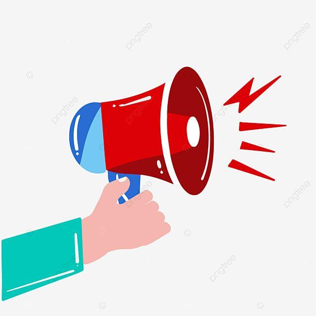 Hand Drawn Cartoon Red Speaker Megaphone Illustration Lightning Speaker Information Png And Vector With Transparent Background For Free Download How To Draw Hands Illustration Comic Illustration