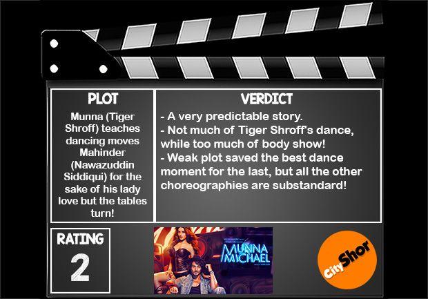 Movie Review - Munna Michael #MovieReview #Bollywood #Entertainment #MunnaMichael #CityShorBengaluru