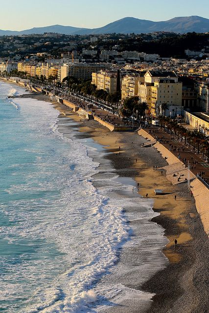 Mediterranean Coast of Nice, France -- photo by: Out-of-Office Adventures