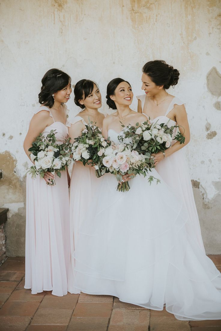 457 best bridesmaid dresses and gifts images on pinterest all blush pink bridesmaid dresses and bouquets franciscan gardens orange county wedding jean ombrellifo Choice Image