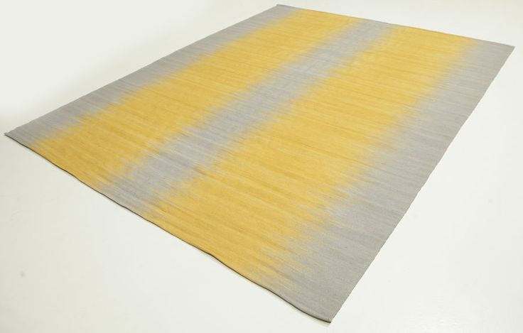 Kelim Ikat - Gelb Teppich 250x300