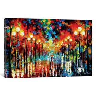 iCanvas A Date With The Rain by Leonid Afremov Canvas Print | Overstock.com Shopping - The Best Deals on Gallery Wrapped Canvas