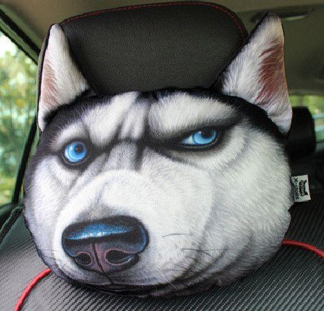 30*30cm Headrest Cat Dog Shape Sofa Cushion Toy Doll Car Travel Headrest Gift Birthday Wedding Home Chair Pillow Head Rest
