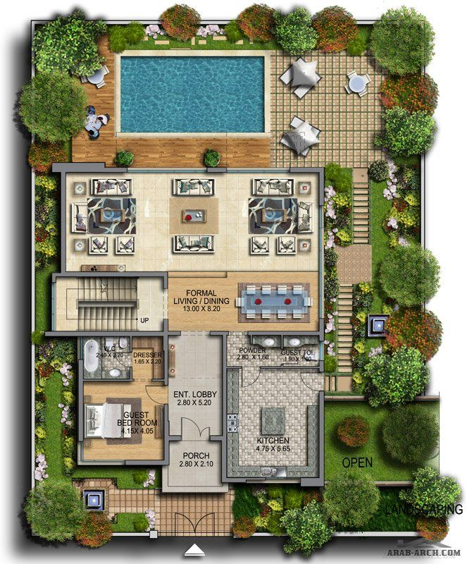 Architect Drawing House Plans