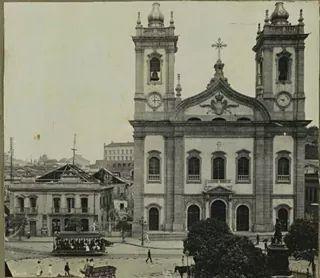 Igreja de São Francisco de Paula  no Largo de São Francisco de Paula  Centro Histórico do Rio de  Janeiro  Anos 30