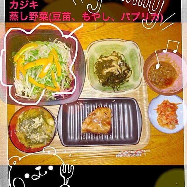 カジキ醤漬け 蒸し野菜 味噌汁 - 9件のもぐもぐ - カジキ醤漬け by yumi6663