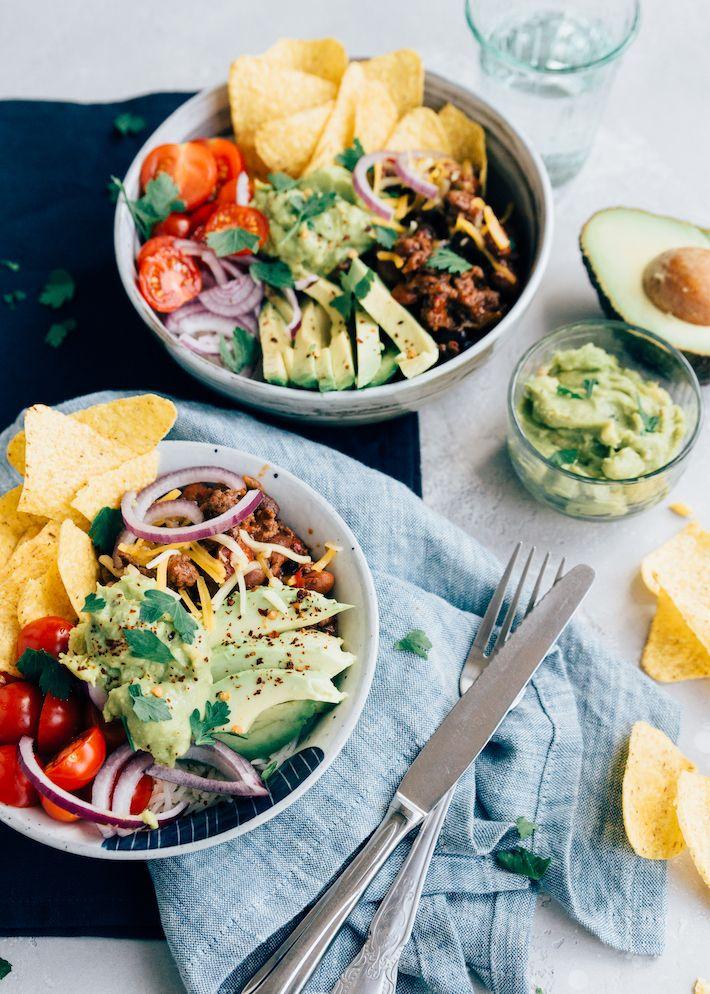 Burrito Bowl Uit Pauline S Keuken Recept Mexicaanse Keuken Enchilada Recepten Mexicaans Eten Recepten