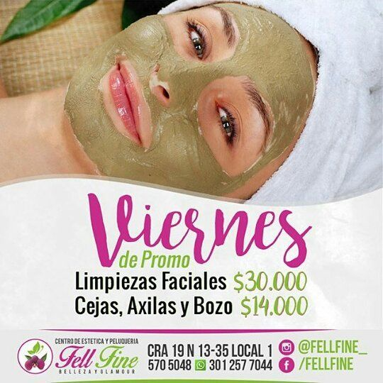 @fellfine_ Hoy es#Viernesde PROMO! y para consentir a mamá!!!! limpiezas faciales $30.000 depilación de cejas axilas y bozo por solo $14.000 que esperas reserva tu turno ya!!! 5705048 - 3012577044#spa#peluquería#Valledupar#estilo#corte#barberia#barber#belleza#moda#estetica#hair Siguelos: @fellfine_ @fellfine_ @fellfine_ @fellfine_ by elclanvallenato