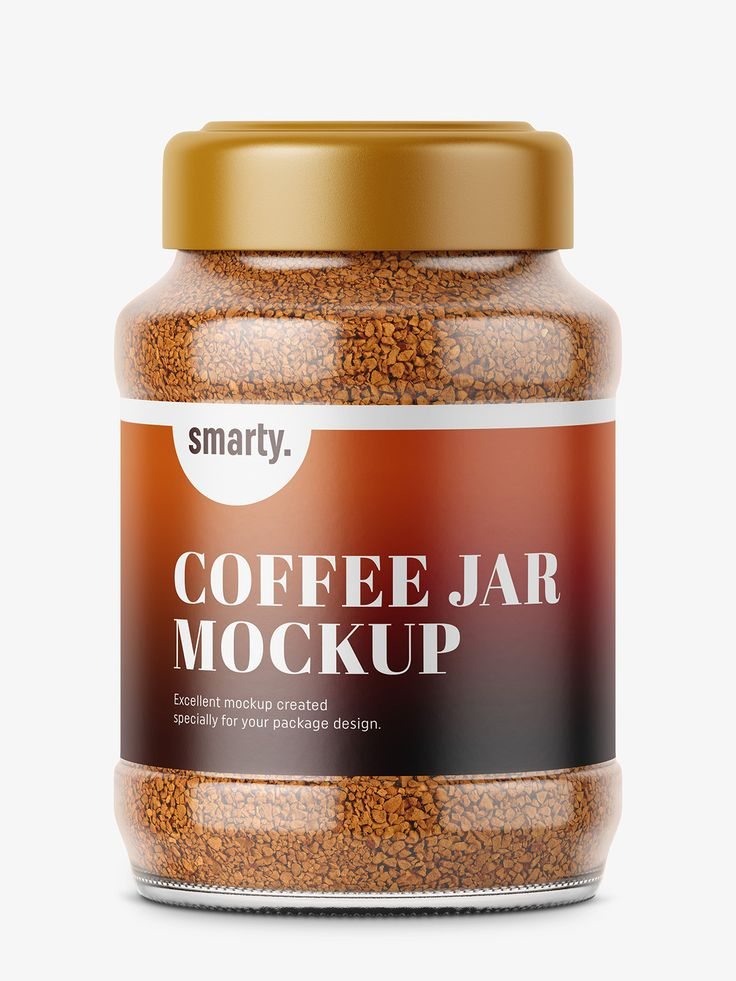 Coffee jar mockup