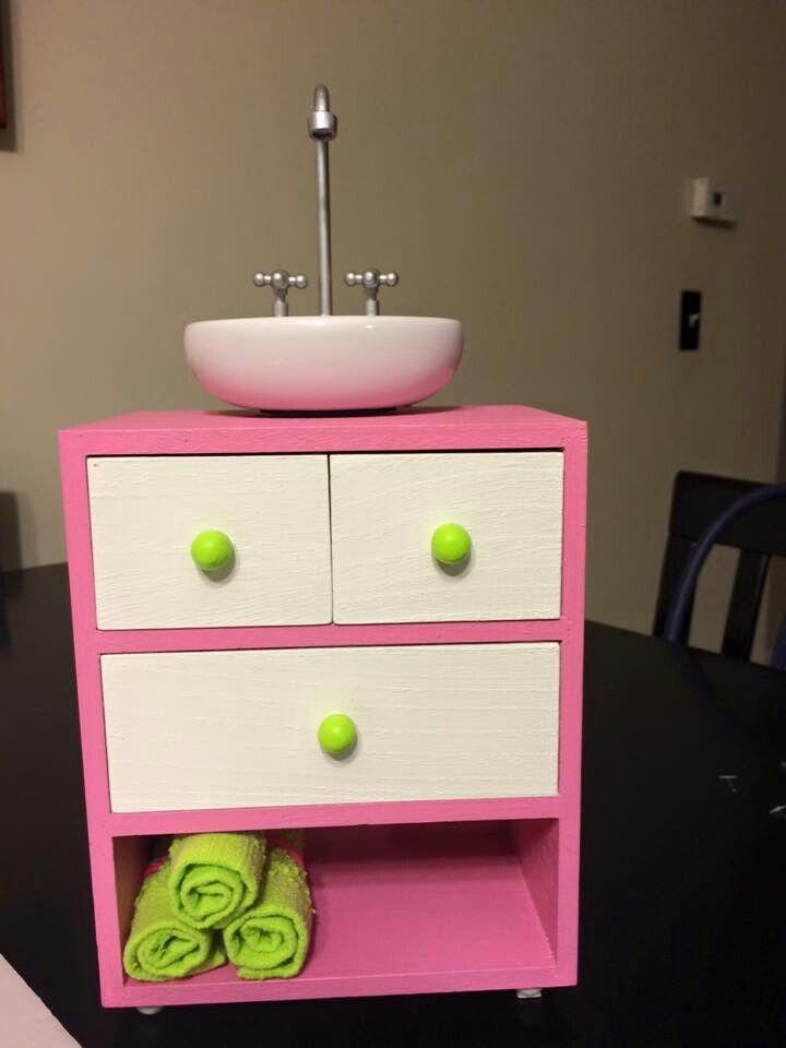 Diy American Dollhouse Dresser And Sink