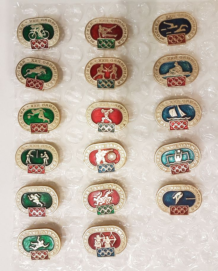 Olympic Games 80 Moscow Pin Badge Set 17pcs USSR 1980 by Olympiad80 on Etsy