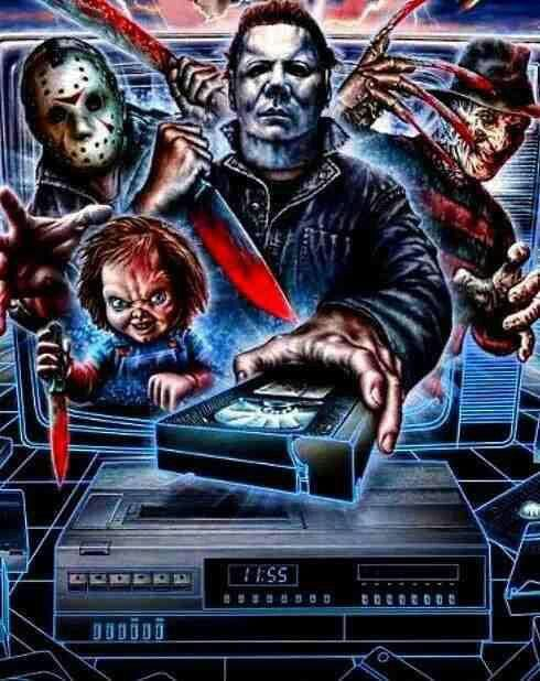 I love this picture! 80's Horror