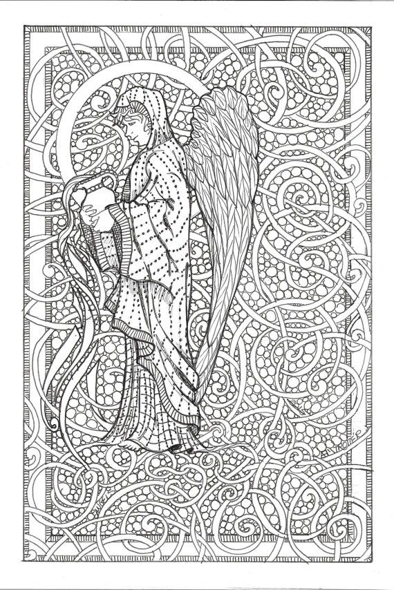 angel adult coloring page angie f michelli trotter
