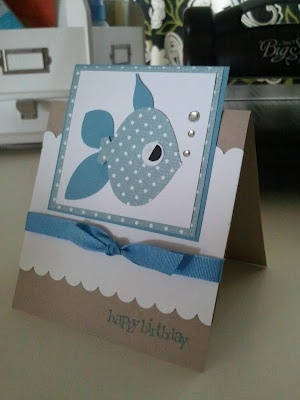 Little Fishy Birthday card Craft Fabulous!