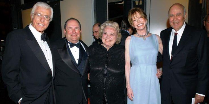 Mary Tyler Moore, Dick Van Dyke, Larry Mathews, Rose Marie, and Carl Reiner