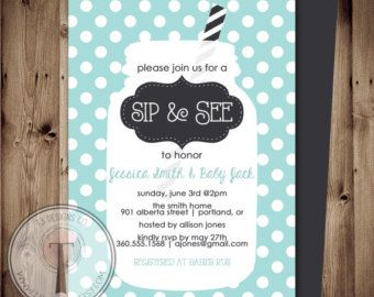 sip and see invitations boy - Google Search