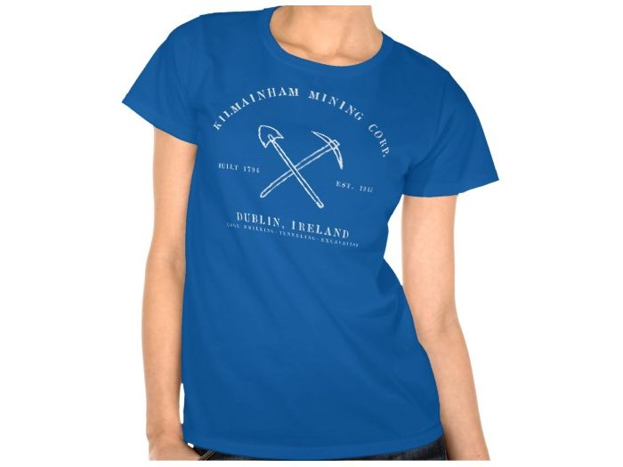 Kilmainham Mining Corp, Style is  Women's Hanes ComfortSoft T-Shirt, color is Deep Royal