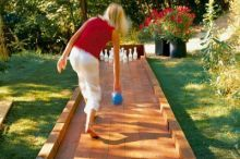 Awesome outdoor bowling alley #DIY