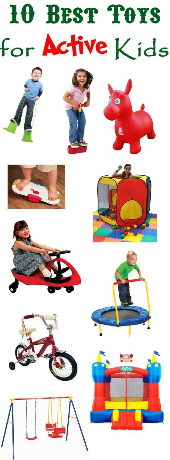 Here are some great ideas for toys to keep active kids moving. #birthday #giftguide #ADHD #SPD #specialneeds #boys
