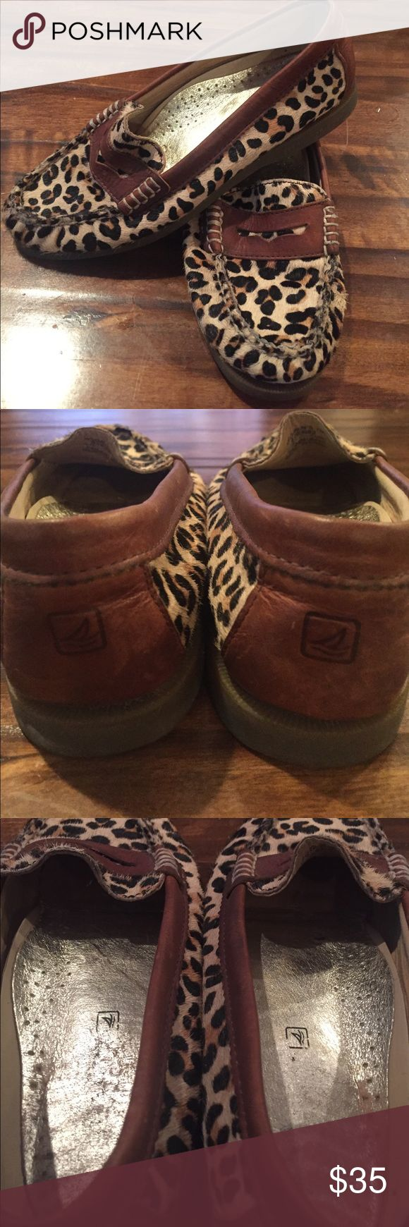 Leopard Sperry Flats Good used condition. Size 7 Sperry Leopard Flats. Sperry Shoes Flats & Loafers