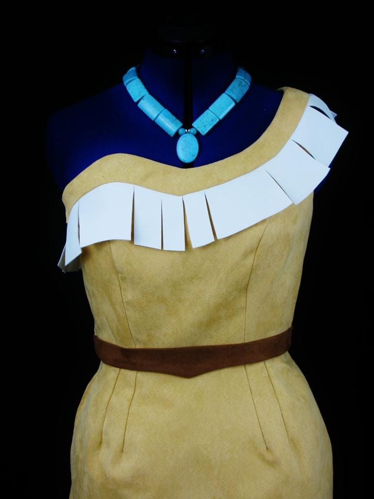 pocahontas custom costume fringes inspiration and