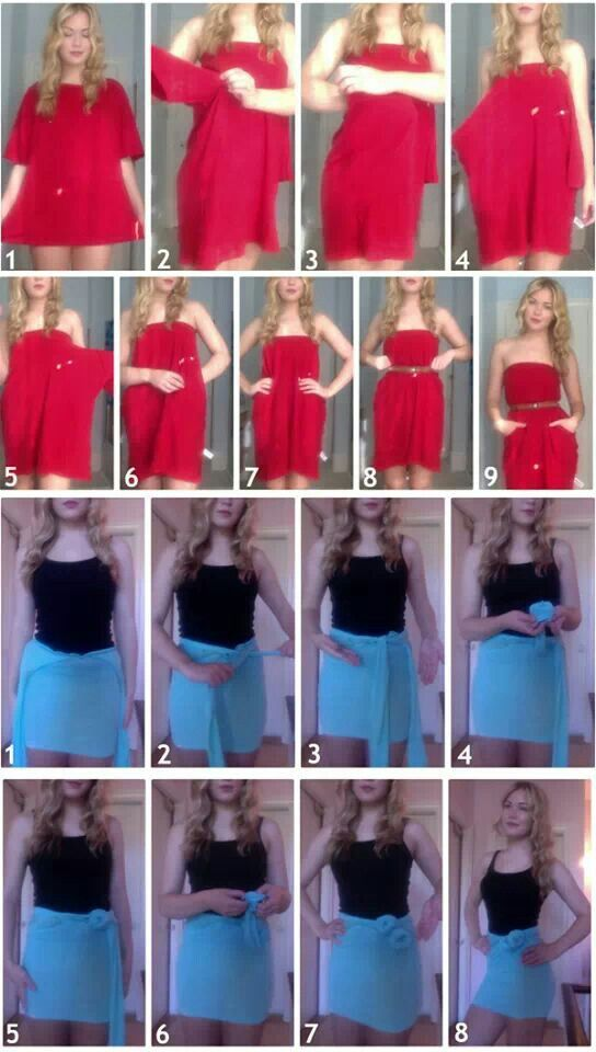 DIY pocket dress and skirt out of an old t-shirt ~ **There ...