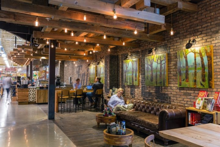 Wood Beams And Lighting Whole Foods Market By Cta