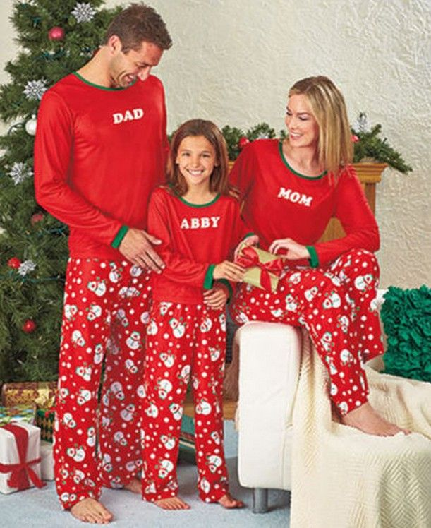 Family Clothes Mother Father Daughter Set Cotton Family Christmas Pajamas Set High Quality Family Matching Outfits