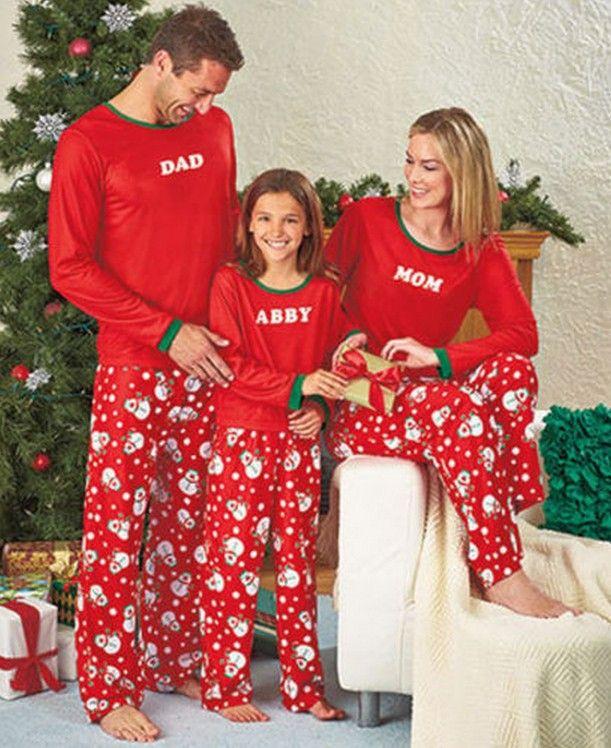 Family Christmas Pajamas New Year Women Man Kids XMAX Family Match Clothes Sleepwear Nightwear Costume Red Cotoon Pajama Set