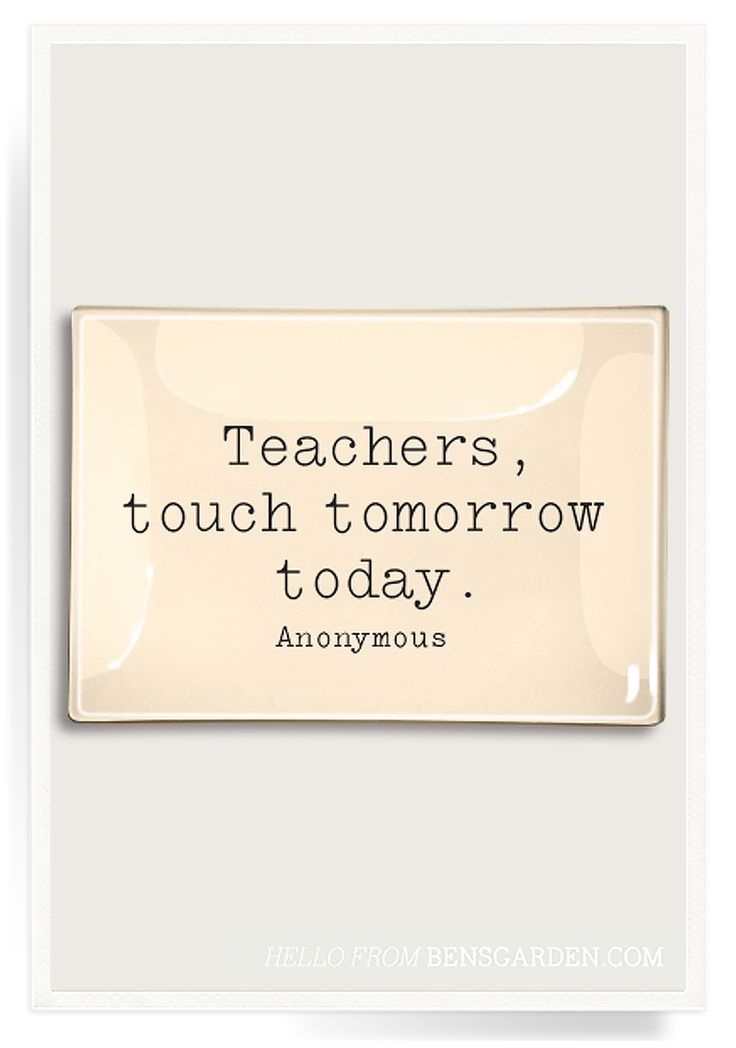 Teachers, Touch Tomorrow Decoupage Glass Tray